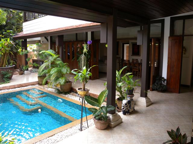 For RENT - 4BR Thai-Bali villa with private pool - House - Lake Maprachan -